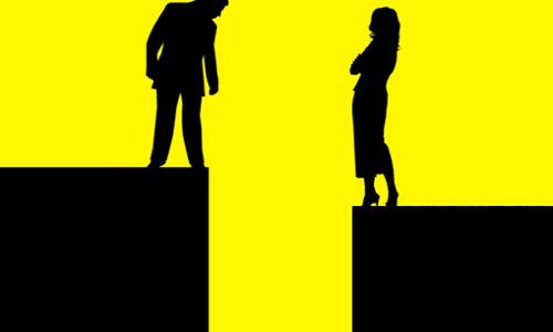 gender wage gap, illustration